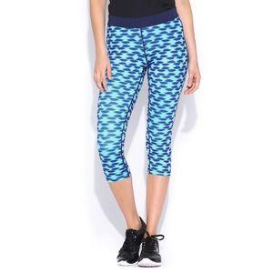Nike Dri-Fit Blue Printed Run Relay Crop Leggings